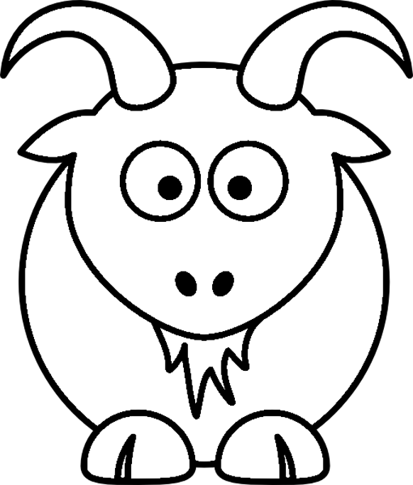 Cartoon Goat Drawing At GetDrawings
