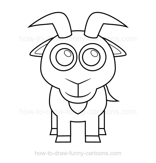 500x522 To Draw A Goat