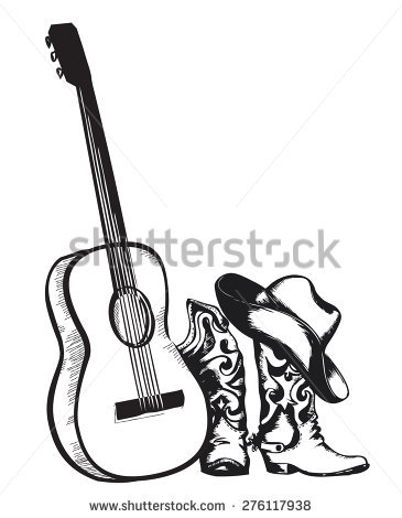 365x470 Drawn Guitar Easy Country