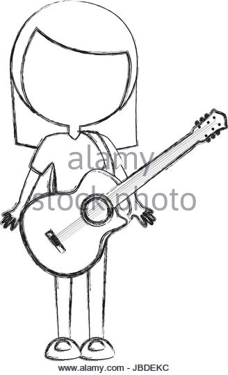 328x540 Acoustic Guitar Sketch Stock Photos Amp Acoustic Guitar Sketch Stock
