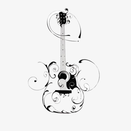 500x500 Hand Painted Guitar, Guitar, Musical Instruments, Innovate Png