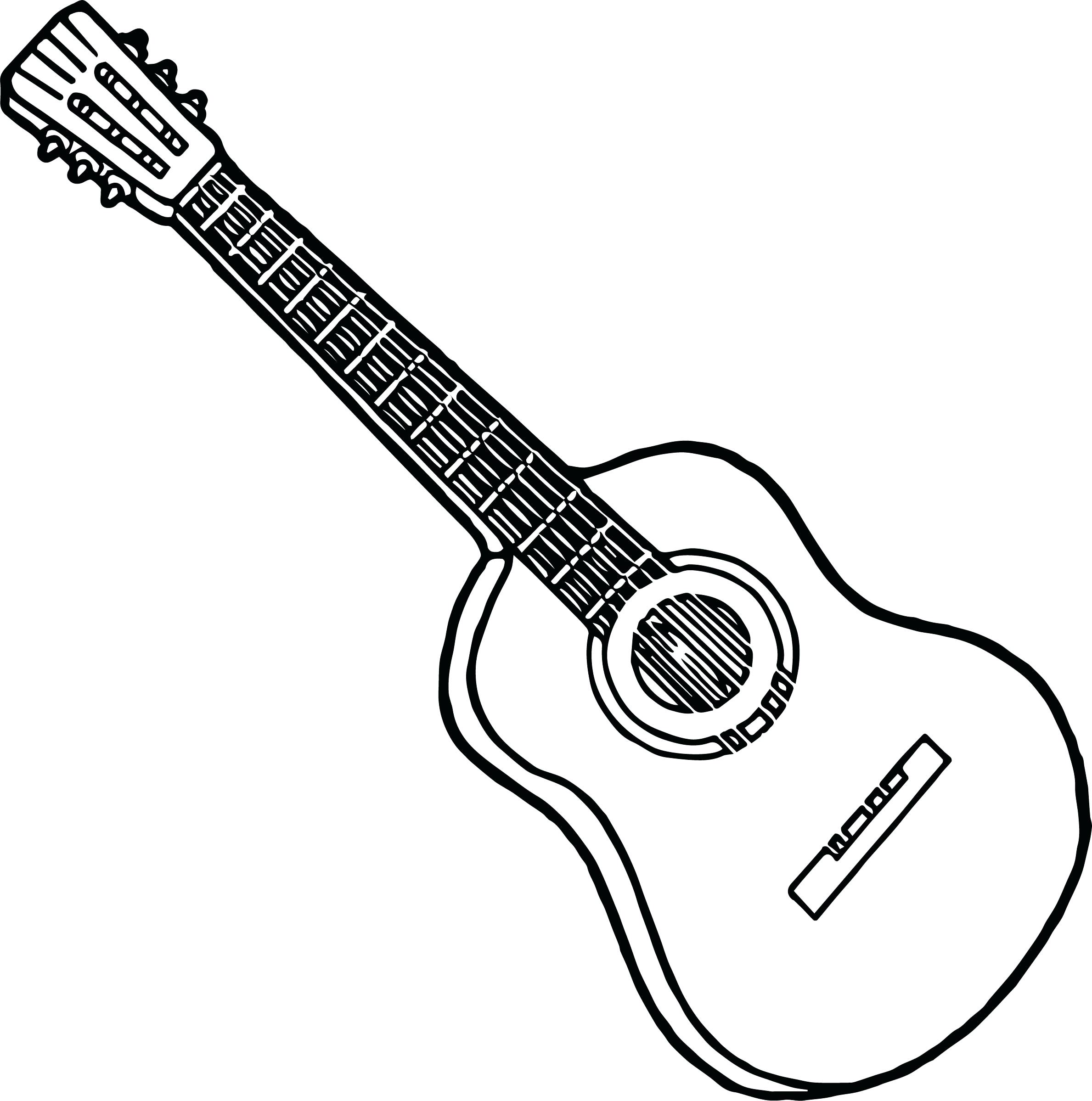 2378x2398 Coloring Guitar Coloring Pages Vector Of A Cartoon Dancing