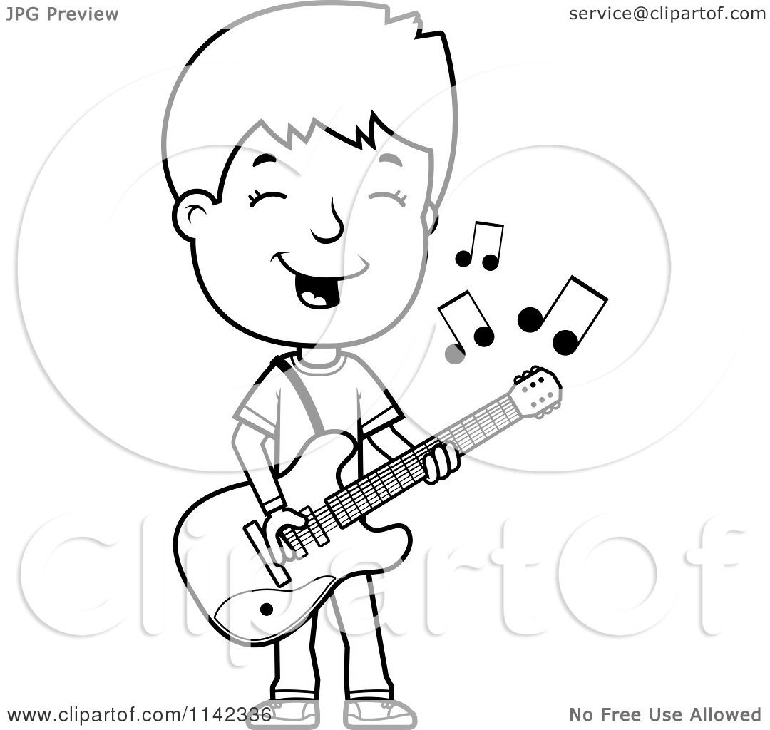 1080x1024 Cartoon Clipart Of A Black And White Adolescent Teenage Boy