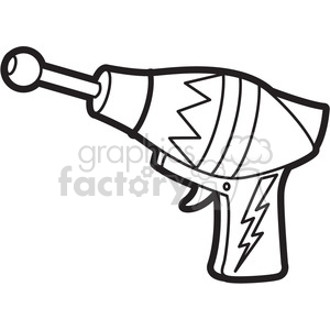 300x300 Royalty Free Toy Space Gun Cartoon Vector Image Outline 397930