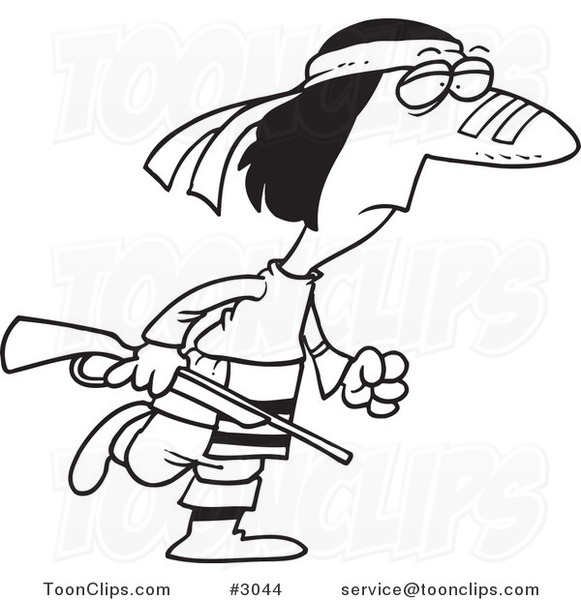 581x600 Cartoon Black And White Line Drawing Of A Native American Guy