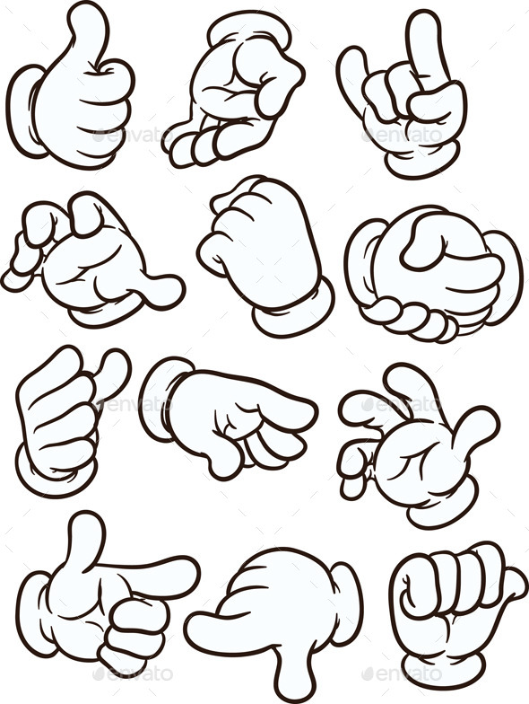 590x784 Cartoon Hands By Memoangeles Graphicriver