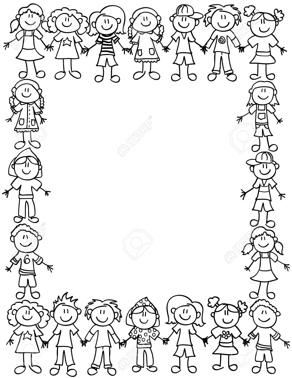 1004x1300 Border Design Drawing For Boys Frame Or Page Border Of Cute Kid
