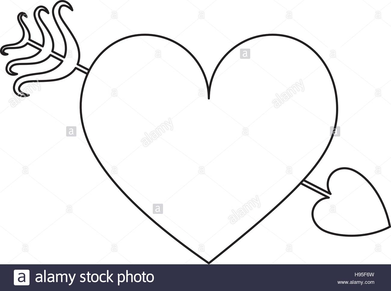 1300x970 Heart Cartoon With Arrow Icon Image Vector Illustration Design