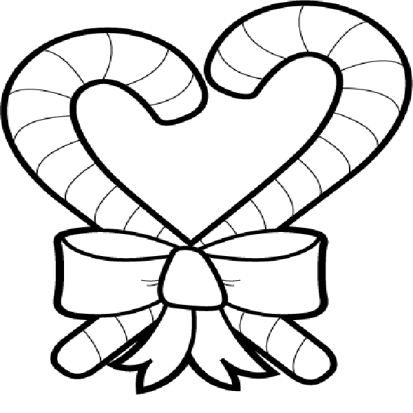600x600 Candy Cane Heart Coloring Pages Cartoon Download2