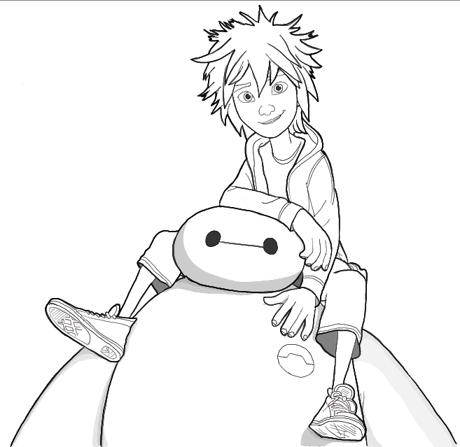 657x639 How To Draw Hiro Hamada And Baymax From Big Hero 6 In Easy Steps