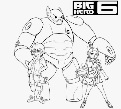 400x360 Lets Coloring Book Big Hero 6 Coloring Pages Free Cartoon Kids