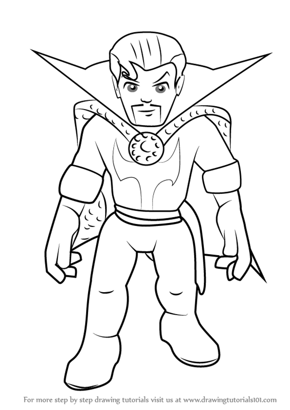 566x800 Learn How To Draw Dr. Strange From The Super Hero Squad Show (The