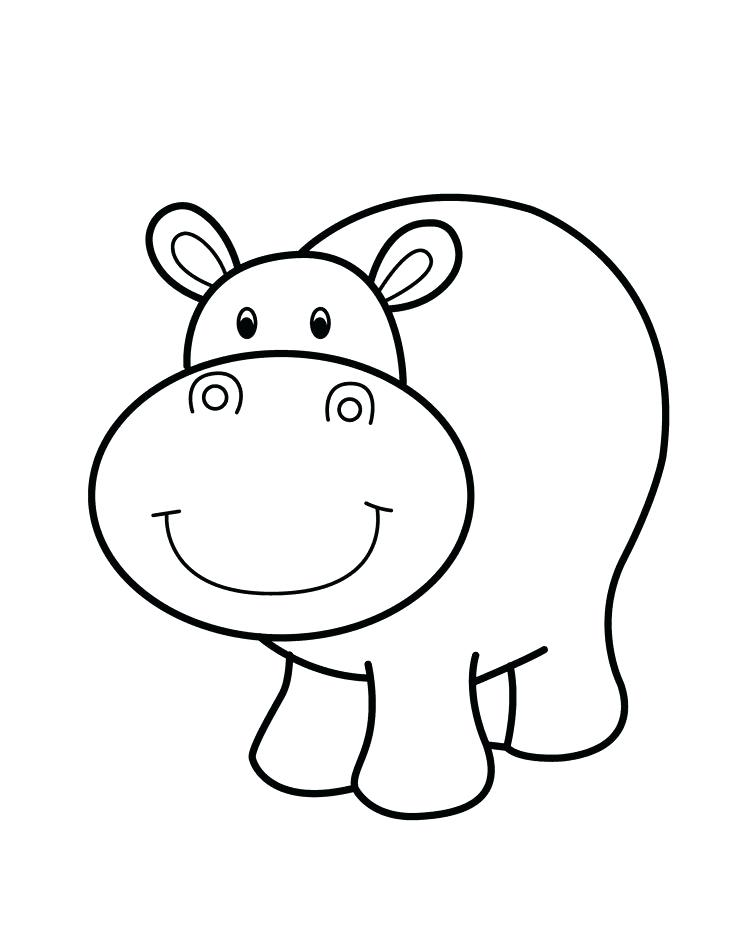 736x935 Baby Hippo Coloring Pages Hippo Animal Coloring Pages Hippopotamus