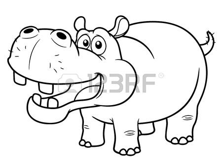 450x338 Illustration Of Cartoon Hippopotamus Royalty Free Cliparts