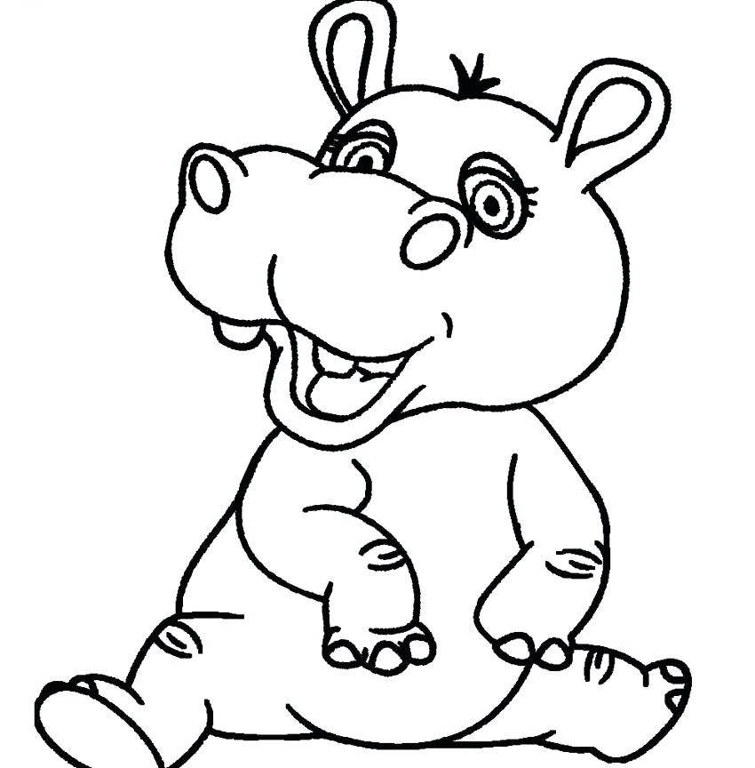 Cartoon Hippo Drawing At GetDrawings