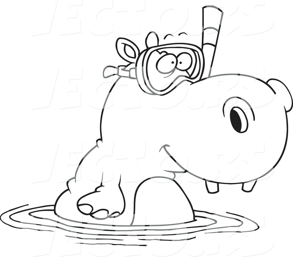 Cartoon Hippo Drawing at GetDrawings.com | Free for personal use ...