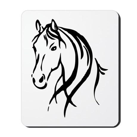 460x460 Horse Cartoon Horse Drawings Mousepads Buy Horse Cartoon Horse