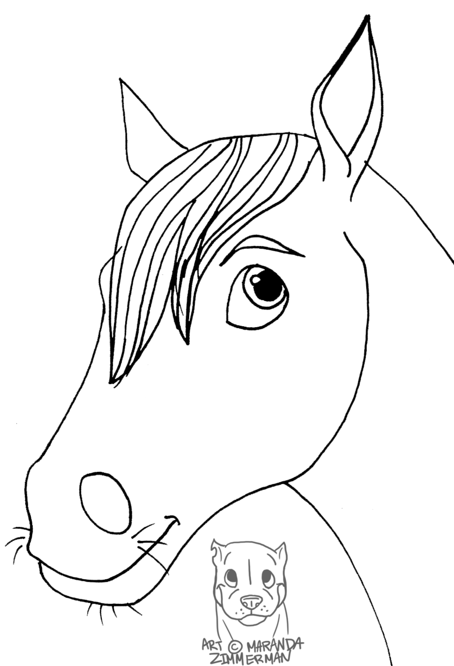 Cartoon Horse Head Drawing at GetDrawings.com | Free for personal ...