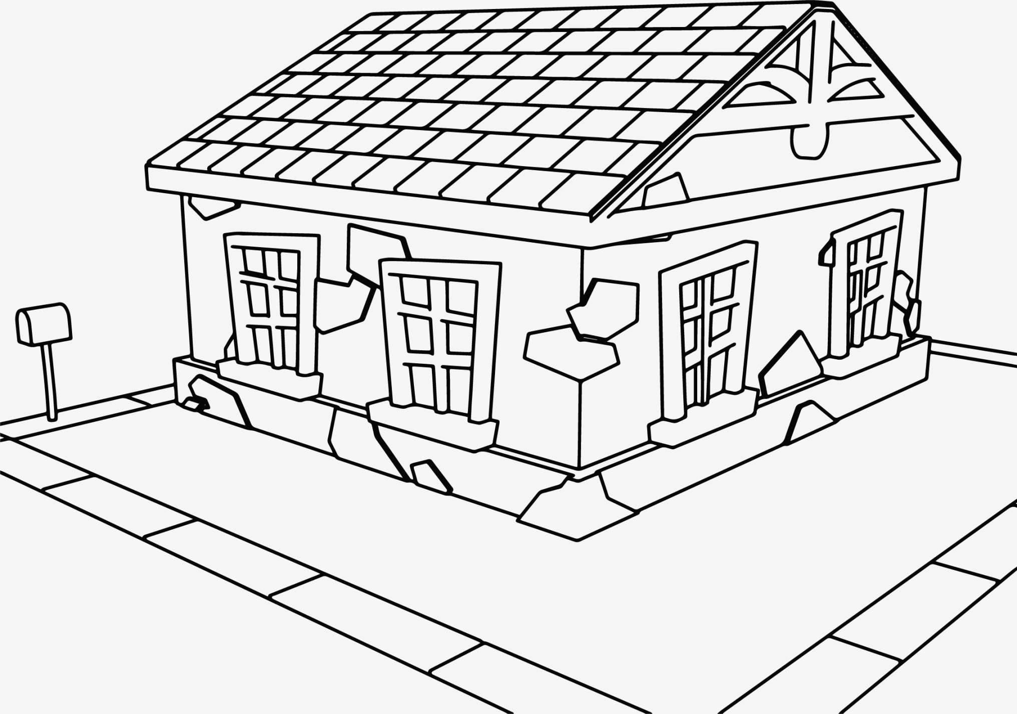 Cartoon House Drawing