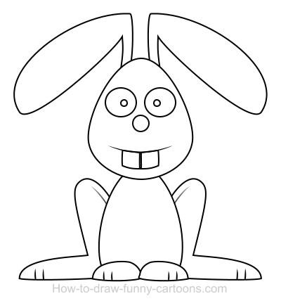 400x438 Drawn Bunny Simple