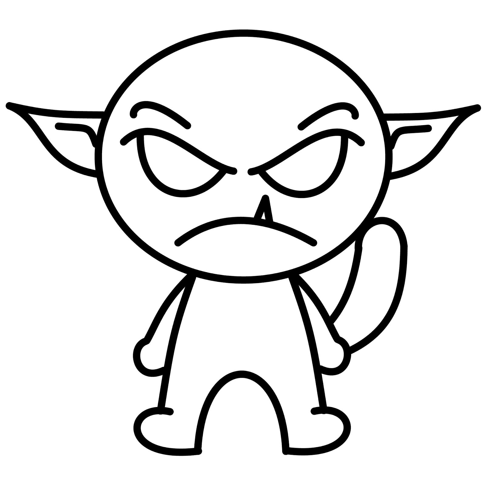 1600x1600 Cartoon Monster Drawings