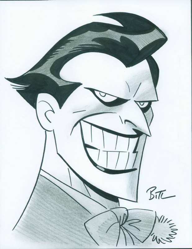 Cartoon Joker Drawing