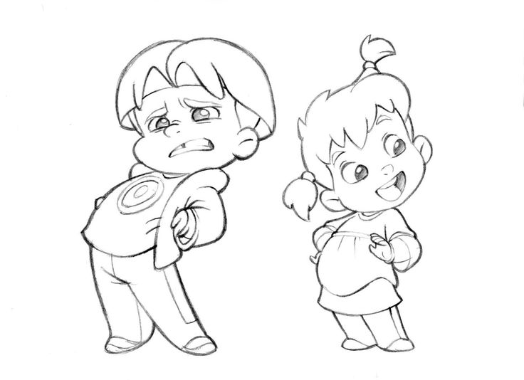 Cartoon Kid Drawing