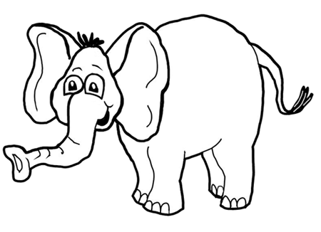 450x326 How To Draw Cartoon Elephants African Animals Step By Step