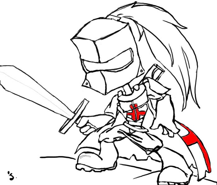 697x593 Cartoon Knight Knight And Armor Knight And Cartoon