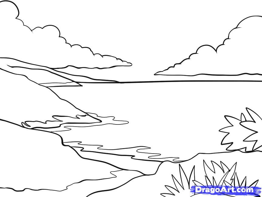 864x649 Drawing A Landscape Step By Step My Brillian Design How To Draw