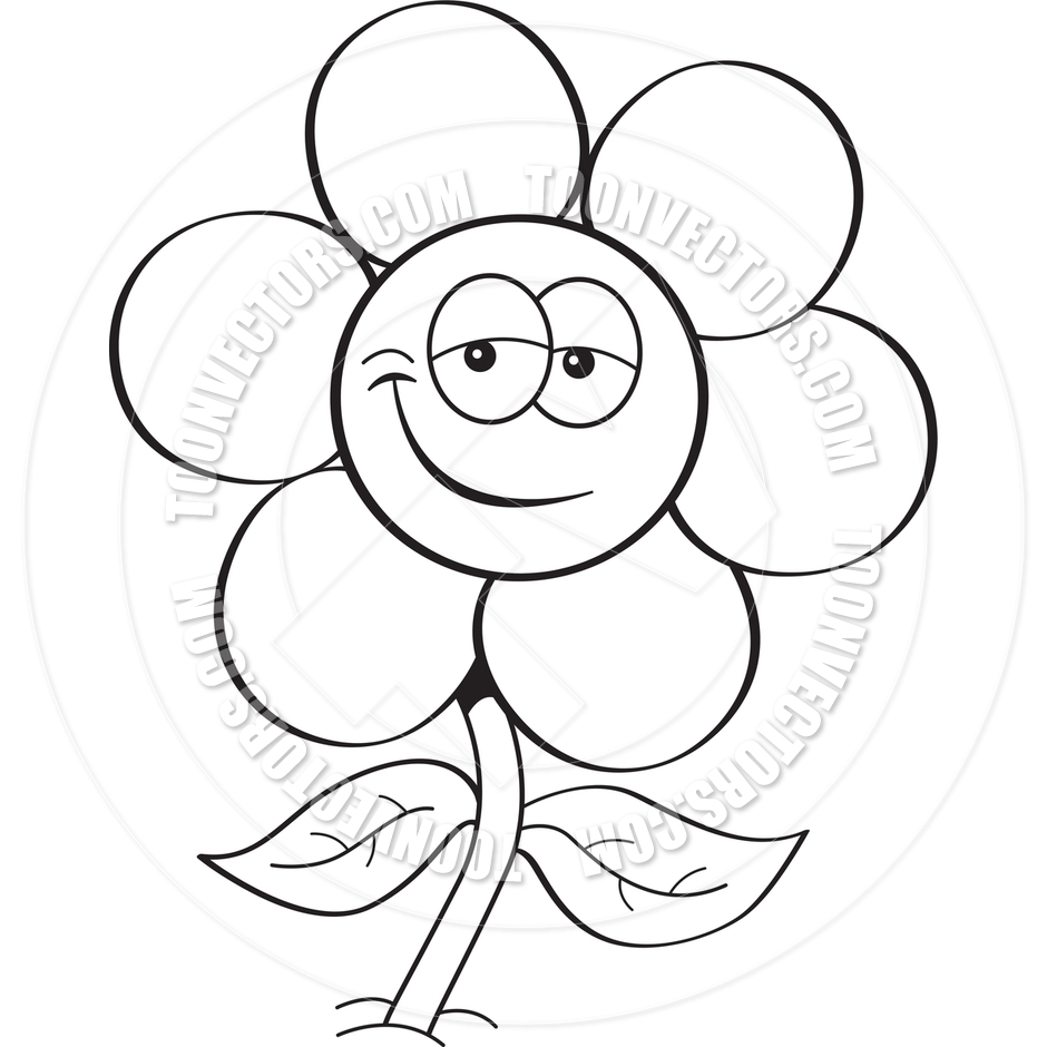 Cartoon line drawing at getdrawings free for personal use 940x940 cartoon flower black and white line art by kenbenner toon mightylinksfo