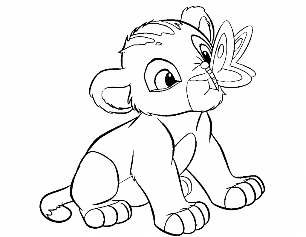 1024x793 Cartoon Drawing Of A Lion Cartoon Drawing Of A Lion