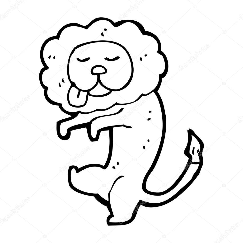 1024x1024 Dancing Lion Drawing Stock Vector Lineartestpilot