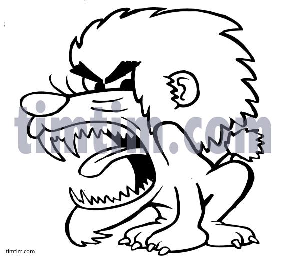 571x516 Free Drawing Of A Angry Lion Bw From The Category Wild Animals