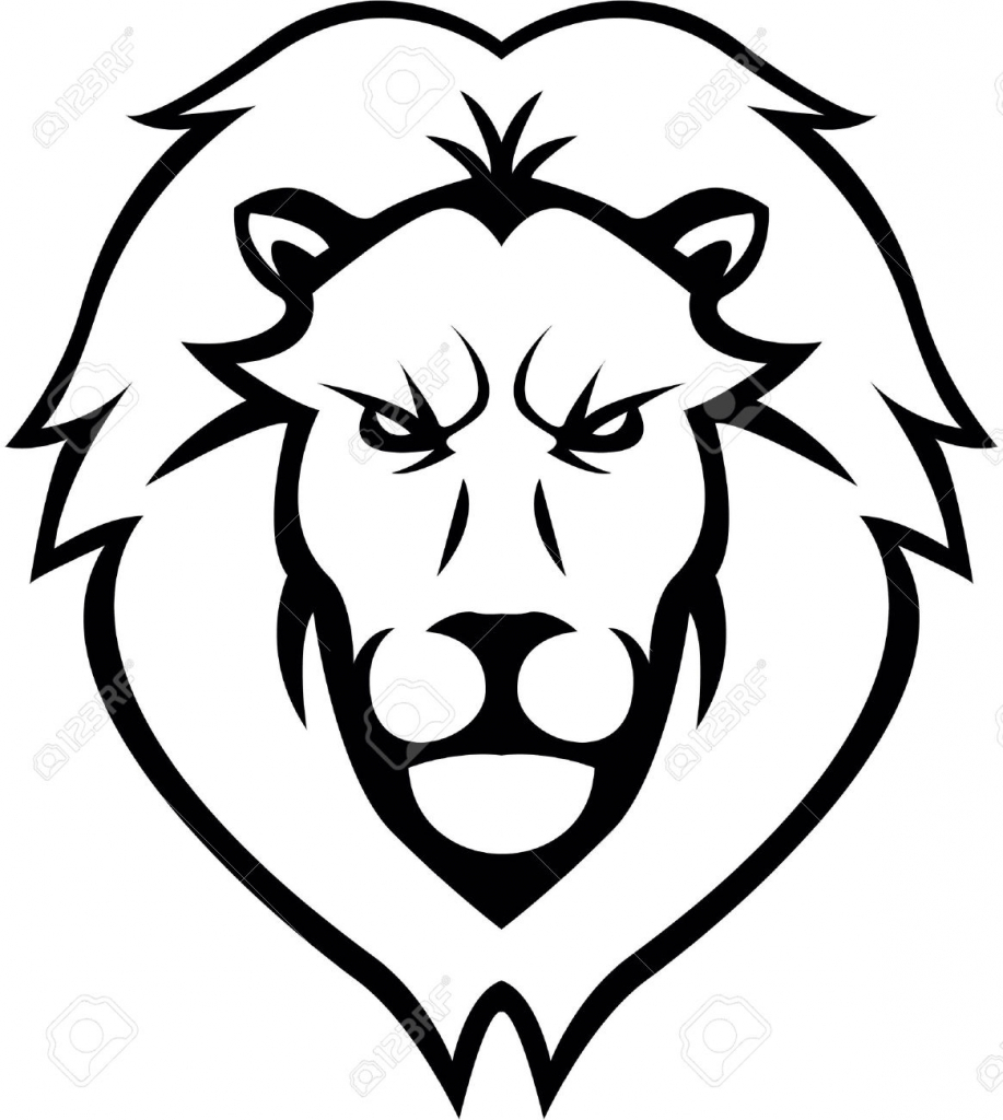 917x1024 Gallery Easy To Draw Lion Face,