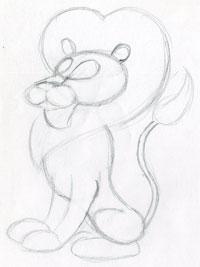 200x267 How To Draw Cartoon Lion In Few Easy Steps.