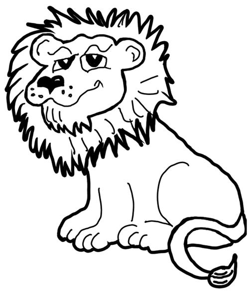 500x585 How To Draw Cartoon Lions Jungle Animals Step By Step Drawing