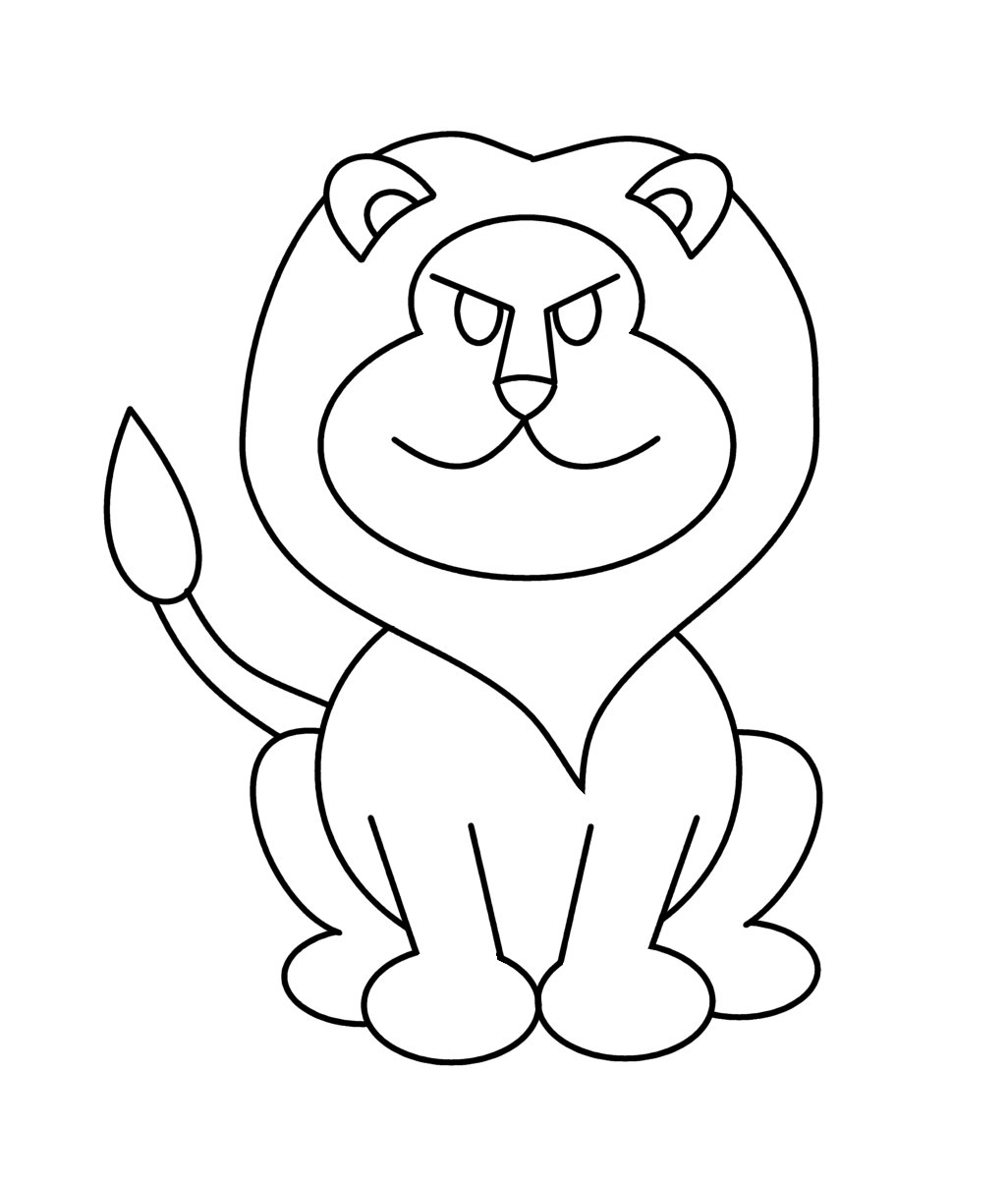 1026x1206 Cartoon Drawing Of A Lion How To Draw Cartoons Lion