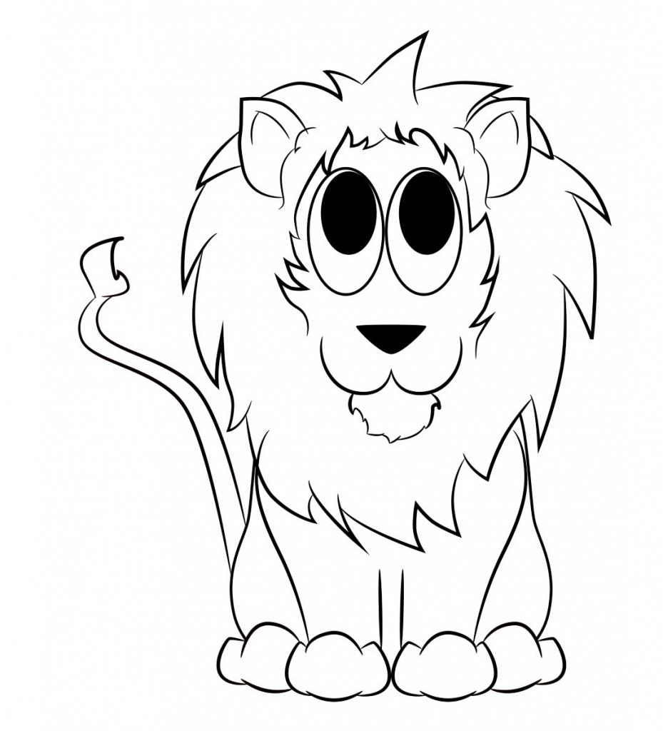929x1024 Cartoon Drawings Of Lions Cartoon Drawing Of Lion