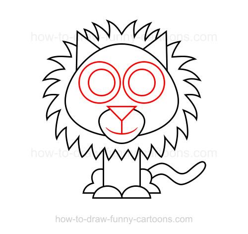 500x471 To Draw A Lion