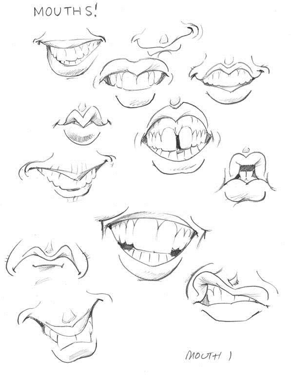 Cartoon Lip Drawing