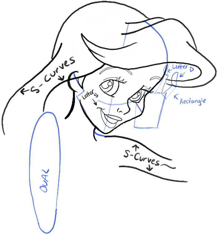 700x754 How To Draw Ariel From The Little Mermaid Step By Step Drawing