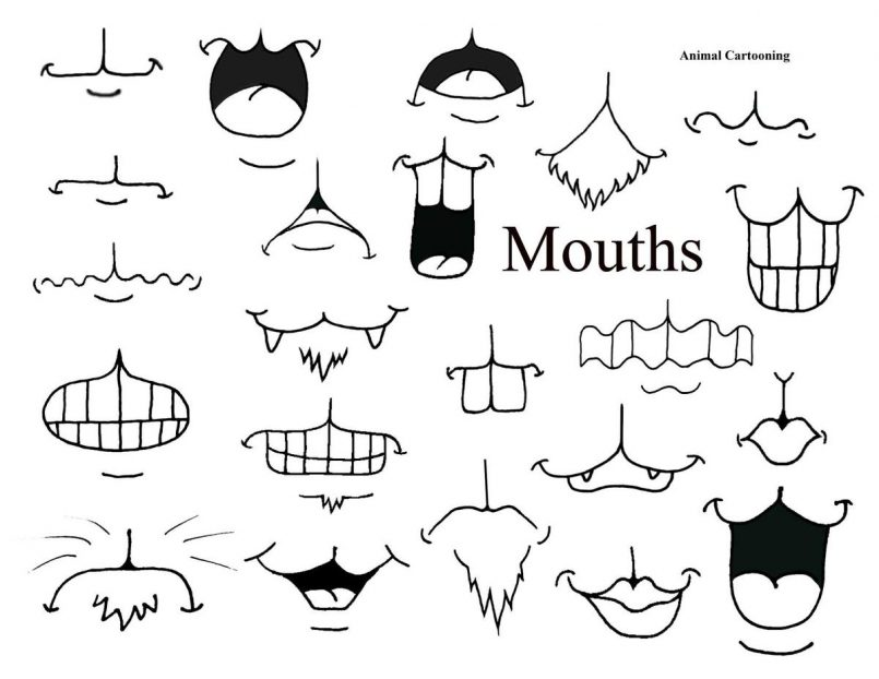 Cartoon Lips Drawing