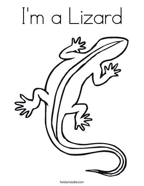 468x605 I'M A Lizard Coloring Page