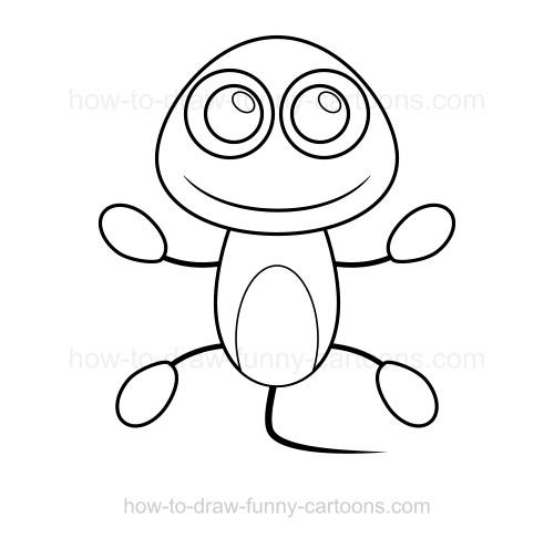 500x487 To Draw A Lizard