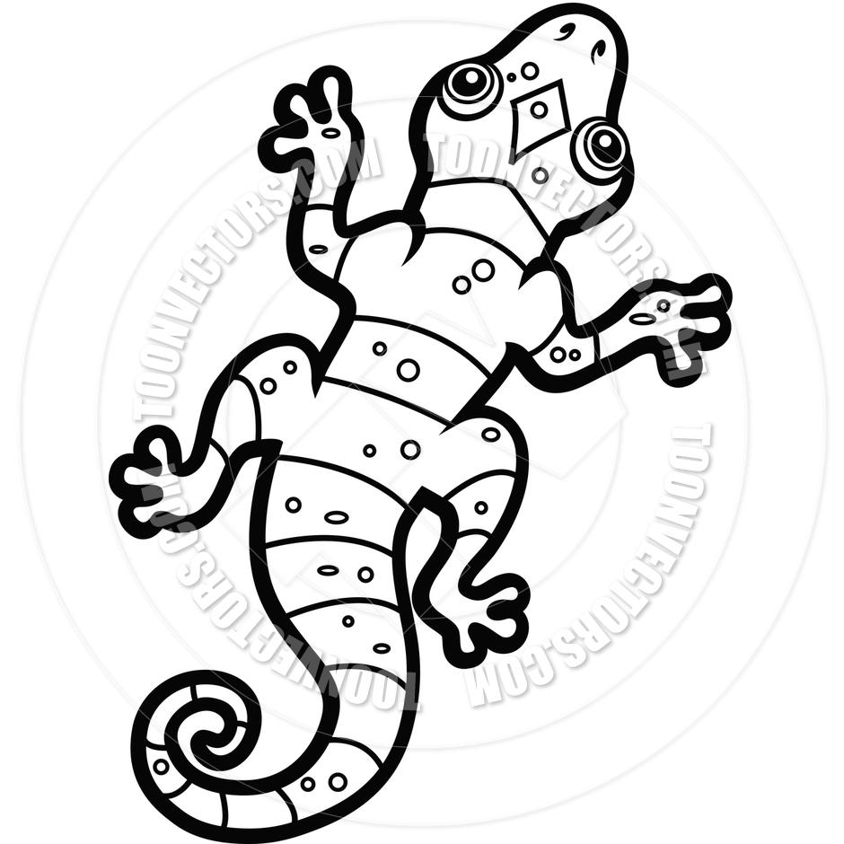 940x940 Cartoon Lizard (Black And White Line Art) By Cory Thoman Toon