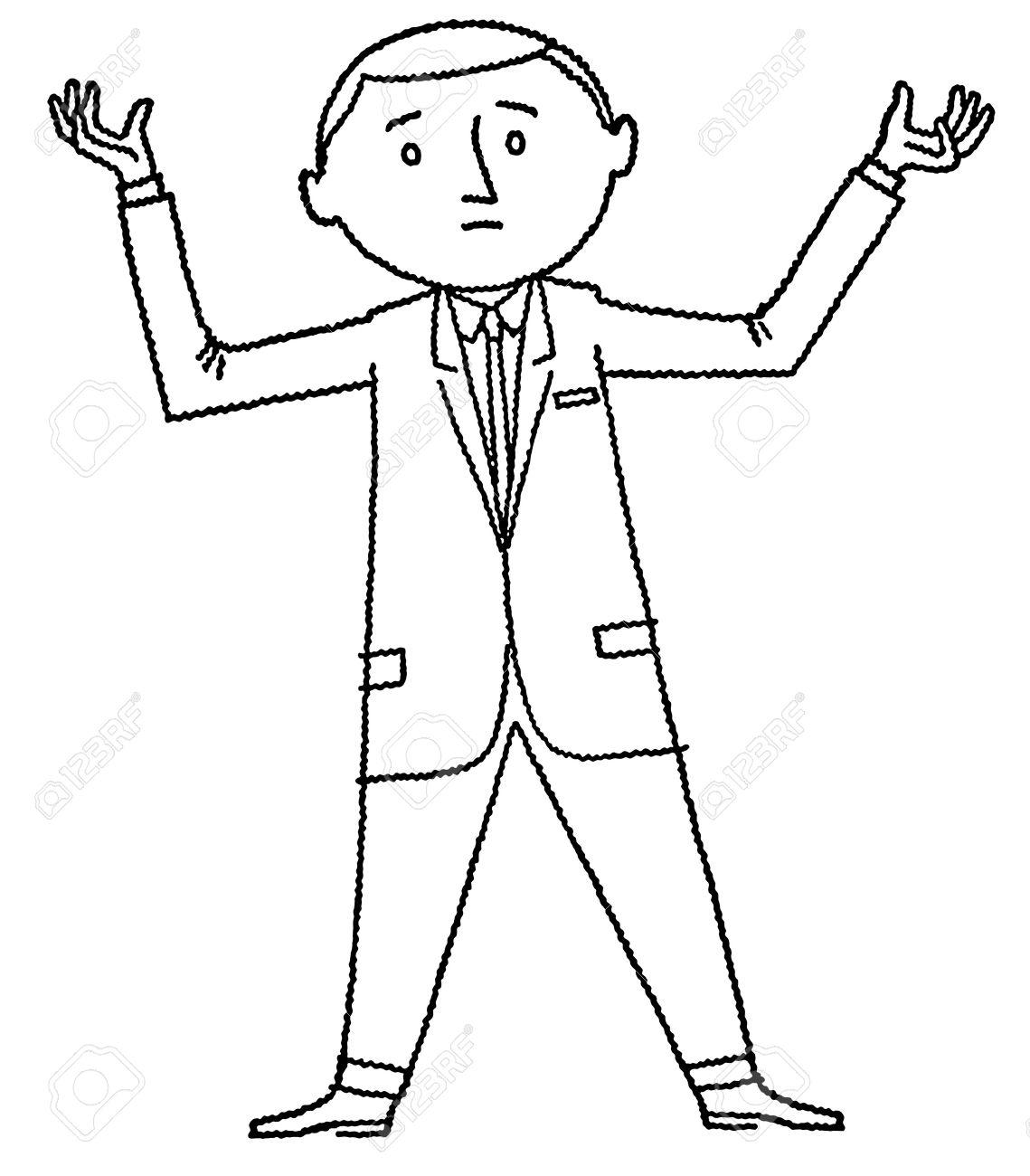 Cartoon Man Drawing