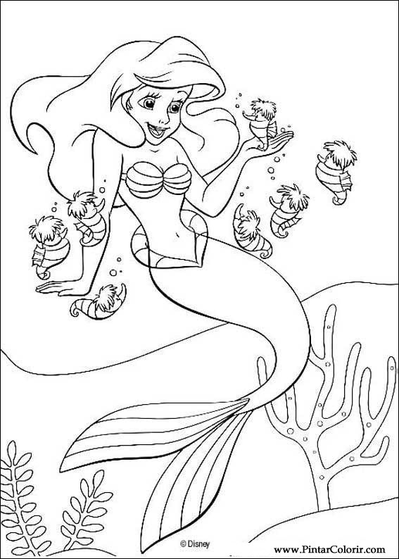 567x794 Drawings To Paint Amp Colour The Little Mermaid