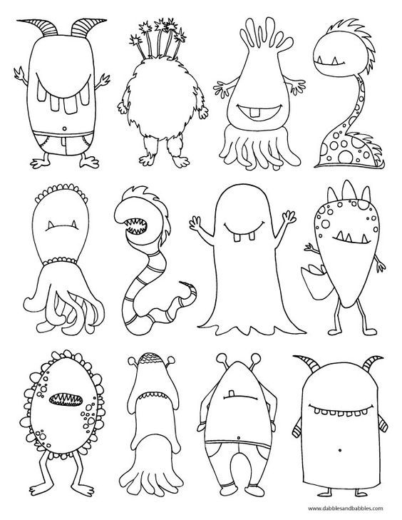 Cartoon Monster Drawing At Getdrawings Free Download