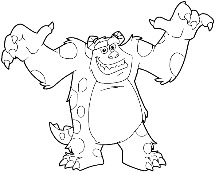 700x564 How To Draw Sulley From Monsters Inc. With Easy Step By Step